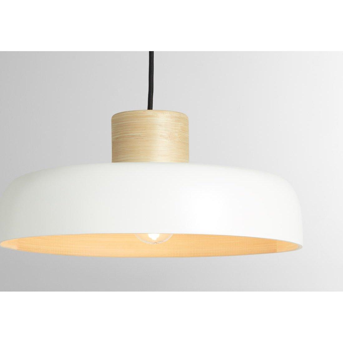 image-Todd Pendant Lamp Shade, White & Bamboo