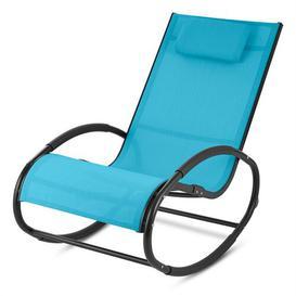 image-Retiro Rocking Chair Blumfeldt Frame colour: Black, Textile colour: Blue