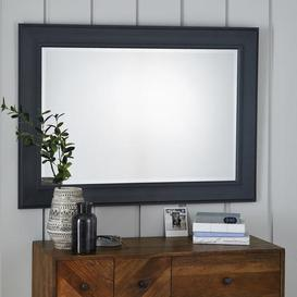 image-Mantle Wall Mirror 116x86cm Charcoal Charcoal (Black)
