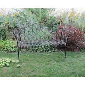 image-Miramar Steel Bench Sol 72 Outdoor Colour: Antique Brown