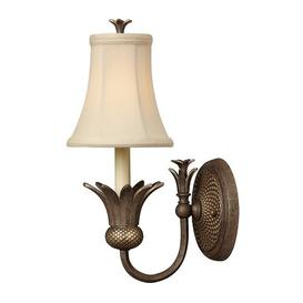 image-Bellville 1-Light Candle Wall Light Red Barrel Studio Finish: Pearl Bronze
