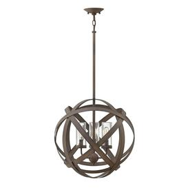 image-HK/CARSON/3P Carson 3 Light Outdoor Ceiling Chandelier Light In Vintage Iron