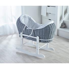 image-White Dimple Grey Pod and Rocking Stand