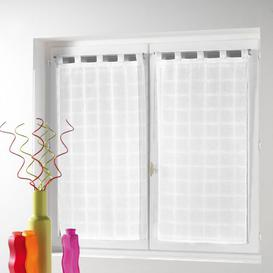image-Tab Top Sheer Curtains Brambly Cottage Size per Panel: 60 W x 120 D cm, Colour: White