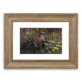 image-'Woman With A Parasol In The Garden Of Argenteuil By Monet Cornwall' Framed Photographic Print East Urban Home Size: 93 cm H x 70 cm W, Frame Options: