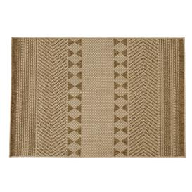 image-120x180cm white and beige woven polypropylene outdoor rug