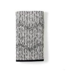 image-DKNY Dot Chevron Hand Towel, Charcoal