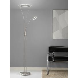 image-S217 Satin Nickel LED Mother and Child Floor Lamp