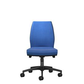 image-Mid Back Desk Chair Symple Stuff Colour (Upholstery): Blue