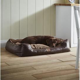 image-Bessie Bolster Cushion Brown Archie & Oscar Size: Extra Large (110cm W x 80cm D x 20cm H)