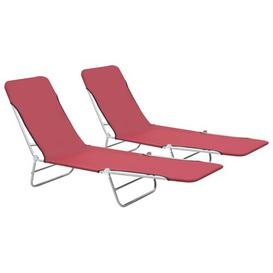 image-Freels Reclining Sun Lounger Sol 72 Outdoor Colour: Red