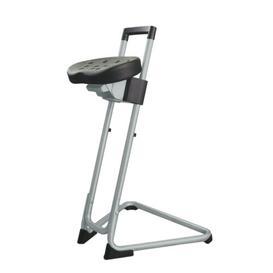 image-Height-adjustable office stool Symple Stuff Colour: Light grey