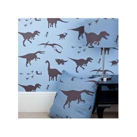 image-Designer Kids Wallpaper- 'D'ya-Think-E-Saurus' in Blue