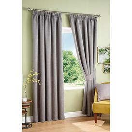 image-Victor Woven Canvas Look Blackout Pencil Pleat Curtains
