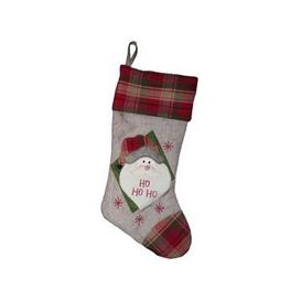 image-Santa White & Red Christmas Stocking (51cm x 26cm)