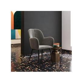 image-Fitz Velvet Bedroom Chair In Grey