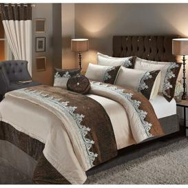 image-Duvet Cover Set Mercer41 Colour: Choco, Bed Size: Double