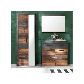 image-Saige Hallway Furniture Set 2 In Old Wood And Graphite Grey