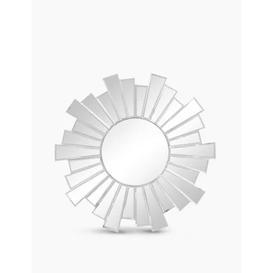 image-M&S Sunburst Small Round Mirror - Silver, Silver