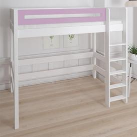 image-Morden Kids High Sleeper Bed With Safety Rail In Dusty Rose