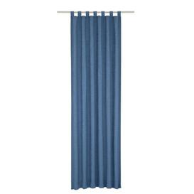 image-Jaylene Tab Top Blackout Thermal Curtain Marlow Home Co. Colour: Blue, Panel Size: 270 W x 245 D cm