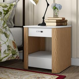 image-Yoakum 1 Drawer Bedside Table Brayden Studio Bluetooth Compatible: No
