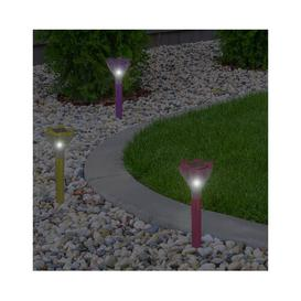 image-Amish Flower Garden Decoration 1 Light LED Pathway Light Sol 72 Outdoor