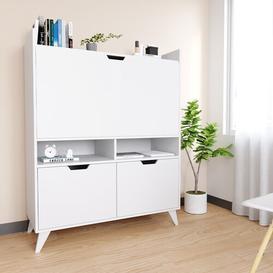 image-Hawarth Secretary Desk Brayden Studio Colour: White
