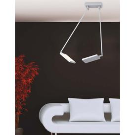 image-Birdwell 2 - Light Novelty Square/Rectangle LED Pendant Brayden Studio Fixture Finish: Chrome