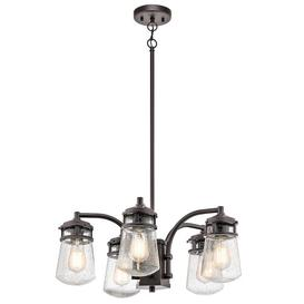 image-Phillipstown 5-Light Shaded Chandelier Marlow Home Co.