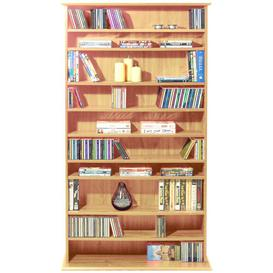 image-Multimedia Wall Mounted Open DVD/CD Shelf Mercury Row Colour: Pine