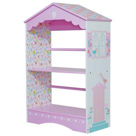 image-Country Cottage Kids Bookcase In Pink And White