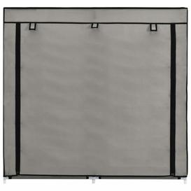 image-Fabric Cover 10 Pair Shoe Storage Cabinet