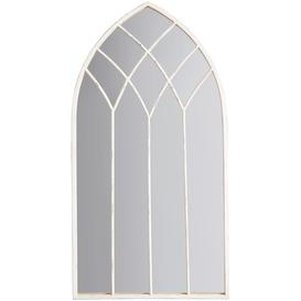 image-Baptiste Arched Mirror, 95 x 50cm, White