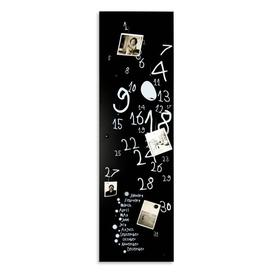 image-Perpetual Calendar Magnetic Wall Mounted Photo Memo Board Happy Larry Finish: Black