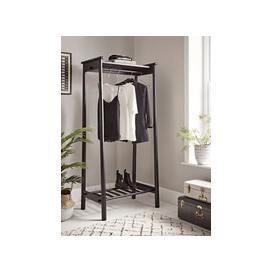 image-Bergen Oak Clothes Rail - Black