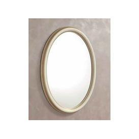 image-Camel Treviso Night White Ash Italian Oval Mirror - 68cm x 95cm