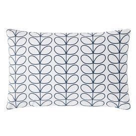 image-Orla Kiely Linear Stem Whale Blue Pillowcase Pair