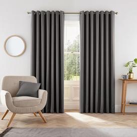 image-Helena Springfield Dark grey polyester 'Eden' lined curtains - 167cm x 183cm drop