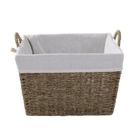 image-Seagrass Tapered Basket Natural