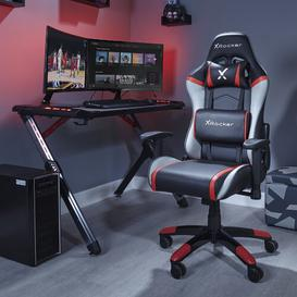 image-Junior Agility Gaming Chair X Rocker Colour: Red/Black