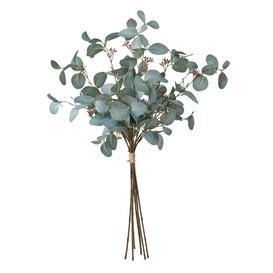 image-Light green artificial eucalyptus branch