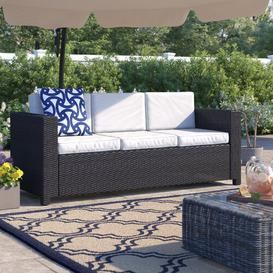 image-Kitts Garden Sofa with Cushions Sol 72 Outdoor Colour: Brown