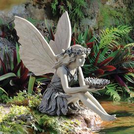 image-Sunflower Fairy Garden Statue Design Toscano