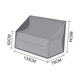 image-Nova Garden Furniture Oyster Black 2 Seater Sofa Cover