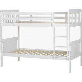 image-Kennedy Single Bunk Bed in White