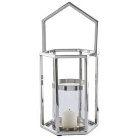 image-Francesca Glass and Metal Lantern Fairmont Park Size: 54 cm H x 25 cm W x 25 cm D