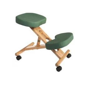 image-Wood Framed Kneeling Chair, Green