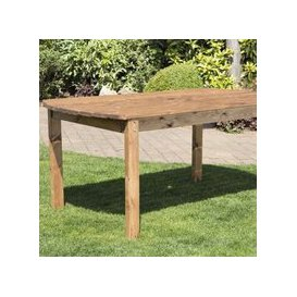 image-6 Seat Scandinavian Redwood Rectangular Garden Table