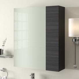 image-Maddalena 60cm x 71.5cm Surface Mount Mirror Cabinet Belfry Bathroom Finish: Black